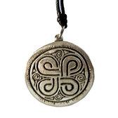 Tin pendant with picture stone design: Havor symbol. Large