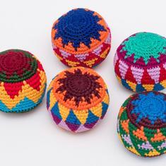 Jonglerbollar,mönstrade, 3-pack