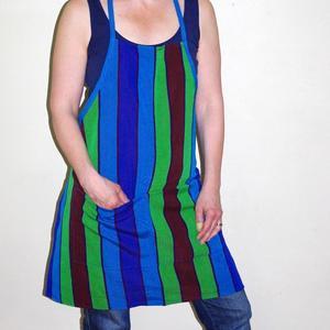 Förkläde , blå/grönt