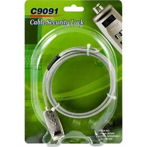 Wirelås för enheter med låshål, 1,8m cylinderlås, kombinationlås