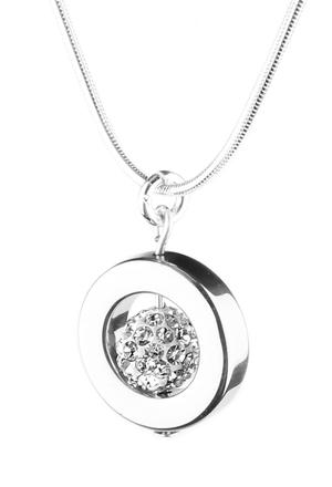 Selma Necklace (Silver Crystal)