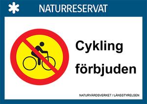 Cykling förbjuden