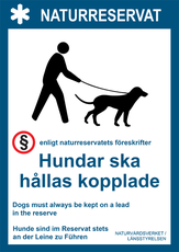 Hundar ska hållas kopplade