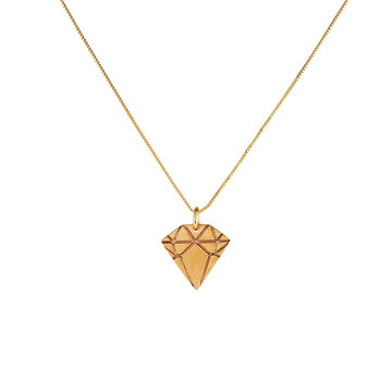 Bronze Diamond Necklace