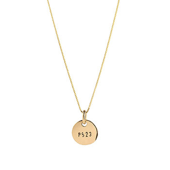PS23 Golden Bronze Small Coin Necklace