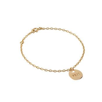 Golden Bronze Coin Bracelet