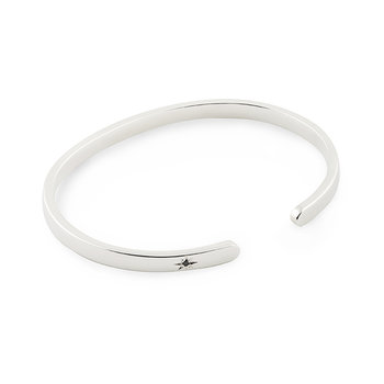 Silver Bangle BLK Diamond