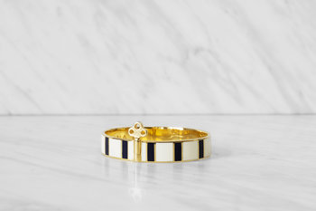 Skultuna - The Stripe Bangle Bracelet With Lock