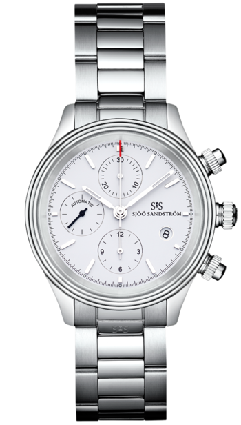 Sjöö Sandström Royal Steel Chronograph 42 mm