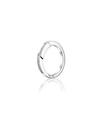 Efva Attling Deco Thin Ring - White Gold