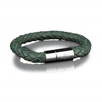 Leather Bracelet 8mm - Steel