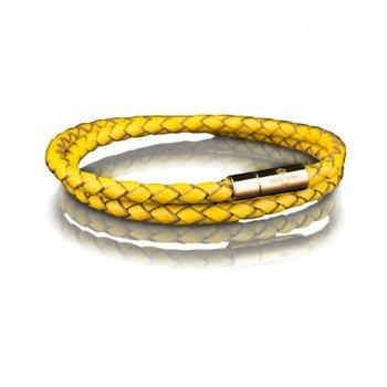 LEATHER BRACELET 4MM - GOLD