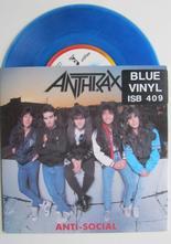 "Anthrax Anti-Social / Parasite 7"" singel"