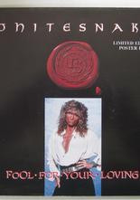 "Whitesnake Fool For Your Loving / Slow Poke Music 7"" singel med posteromslag"