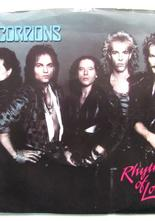 "Scorpions Rhytm of Love / We Let it Rock...You Let it Roll 7"" singel"
