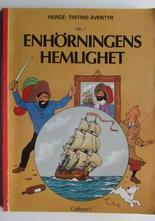 Tintin 11 Enhörningens hemlighet 1:a uppl. 1973 Vg-