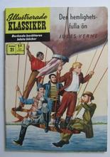Illustrerade Klassiker 021 Den hemlighetsfulla ön 3:e uppl. Fn+