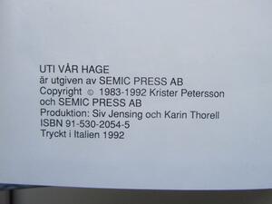 Uti Vår Hage Seriealbum 3 1992