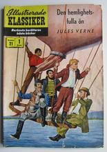 Illustrerade Klassiker 021 Den hemlighetsfulla ön 1:a uppl. Good
