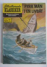 Illustrerade Klassiker 169 Fyra män i en livbåt 1:a uppl Vg+