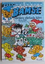 Bamse 1983 12 med julkort