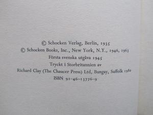 Kafka, Franz Processen inbunden