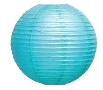 Papperslykta Blå. 30 cm