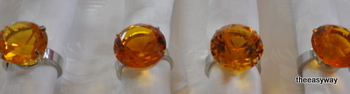 Napking Rings. Amber. 4 pieces