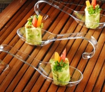 Mini Clear spoon. 10 pieces