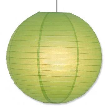 Paper Lantern. Green. 40 cm