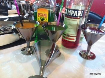 Martini glass in silver. 6 pieces