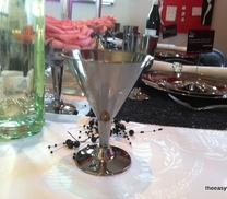 Martini glass in silver. 6 pieces