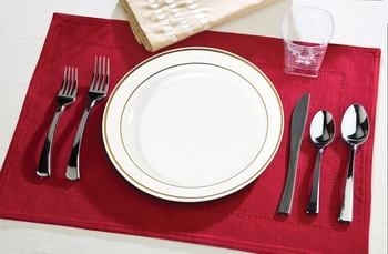 Round Side plate with Silver edge. 10 pieces.