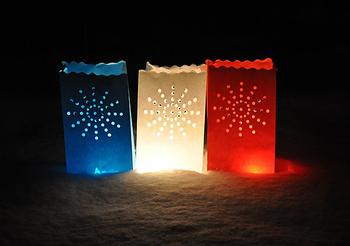 Ljuspåsar. Candle Bag  Stardust - Röd
