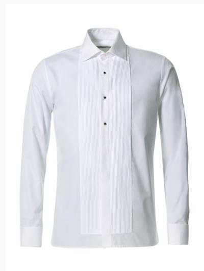 Smokingskjorta med nedvikt krage