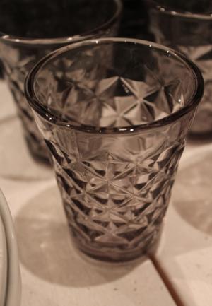 Fasettglas  - aqua