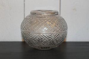 Glasvas med mönster