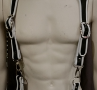 Leather Suspenders Harness