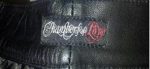 Svarta läderbyxor