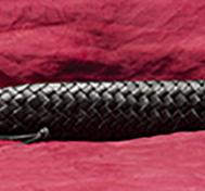 Black Thin Padded Leather Paddle