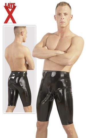 Latex Cycle Short