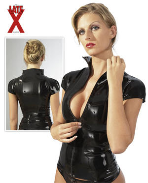 Latex shirt black