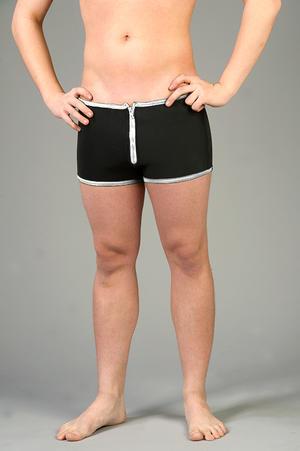 Neopren Shorts med Blixtlås