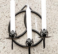 Three arm candleholder Triskele