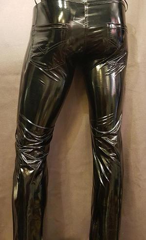 Slim-fit PVC-Pants