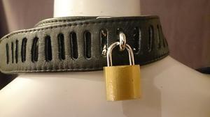 Läderharness Kropp med Halsband, Svart