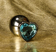 Anal Jewelry Heart Crystal