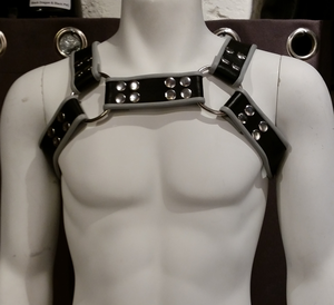 Läderharness Bröst (Olika färger S-XXL)