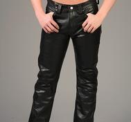 "Black Leather Pants ""Classic model"""