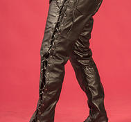 Black leather-pants MC-style
